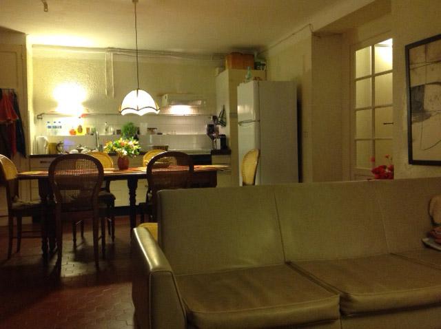 Huis huren Cotedazur Bormes, Villa le Cactus, keuken zitkamer